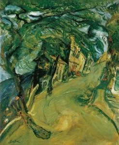 Chaïm Soutine, La route de la colline, ca. 1924