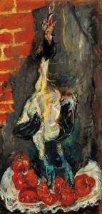 Chaïm Soutine, Poulet et tomates, ca. 1924