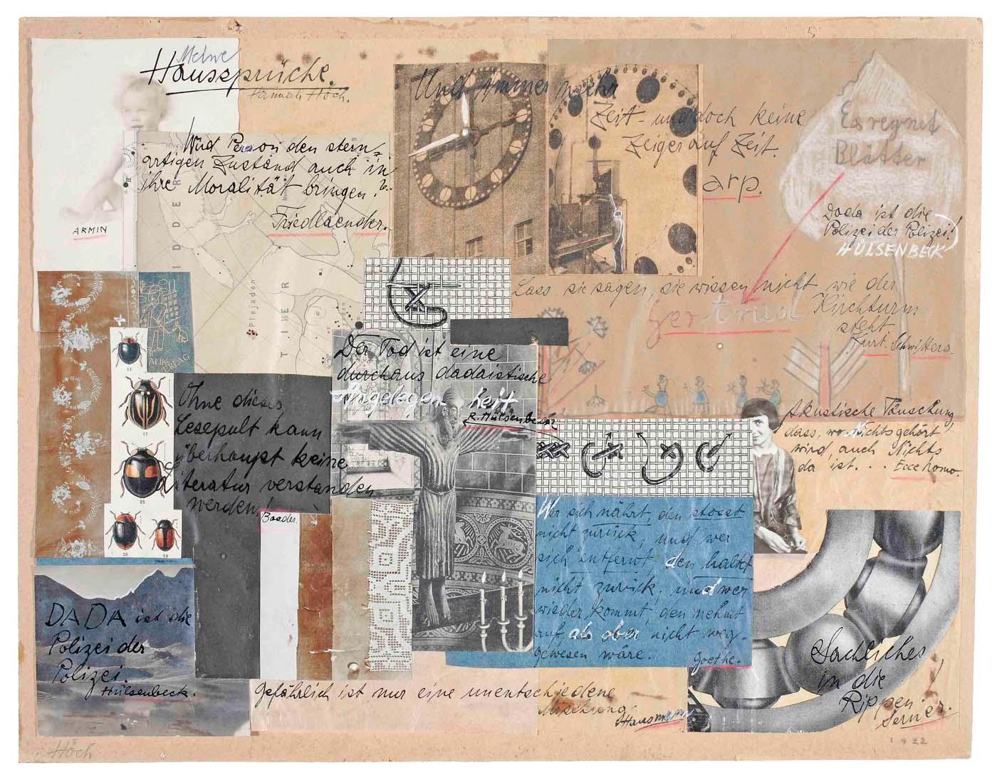 Hannah Höch – die Collage «Lebensbild»
