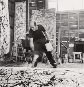 Jackson Pollock bei der Arbeit an Autumn Rhythm: Number 30, 1950