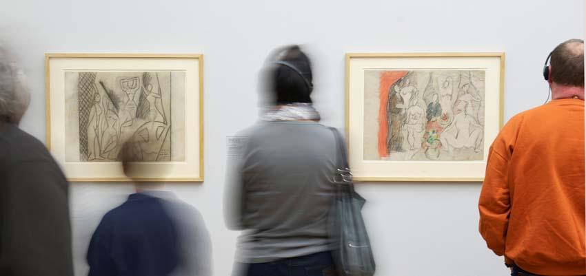 Pablo Picasso, Esquisse pour «les Demoiselles d'Avignon», März/April, 1907
