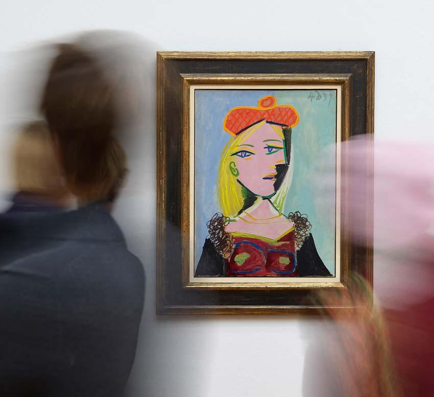 Pablo Picasso, Femme au béret orange et au col de fourrure, 1937