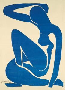 Henri Matisse, Nu bleu I, 1952, Blauer Frauenakt I, © Succession Henri Matisse / ProLitteris, Zürich