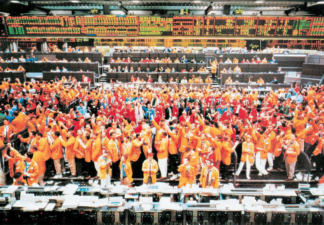 Andreas Gursky, Chicago Mercantile Exchange, 1997 @ Pro Litteris