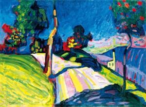 Wassily Kandinsky, Murnau – Kohlgruberstrasse, 1908
