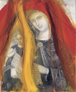 Arnulf Rainer, Madonna  mit Kind 1995