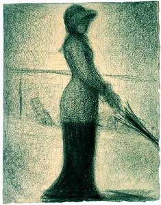 Georges Seurat, Une Promeneuse, um 1884/86