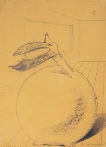 Max Ernst, Der Vogelobre Hornebomm, ca. 1934