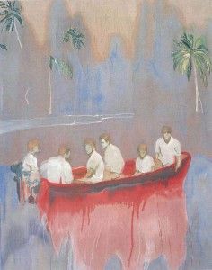 Peter Doig, Figures in Red Boat (Imaginary Boys), 2005–2007