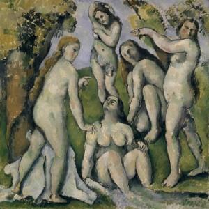 Paul Cézanne (1839–1906); Cinq baigneuses; 1885/1887