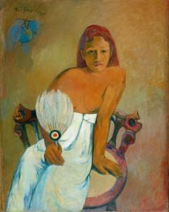 Paul Gauguin, Femme à l'éventail, 1902, Frau mit Fächer, Museum Folkwang, Essen, Foto: © Museum Folkwang, Essen