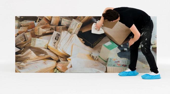 Marina Pinsky, Alex Dusting Pharmakon Underside, 2015. Photo: Hugard & Vanoverschelde