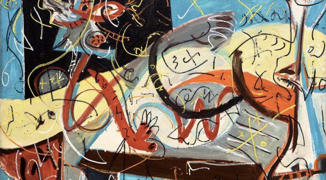 Jackson Pollock, Stenographic Figure, um 1942