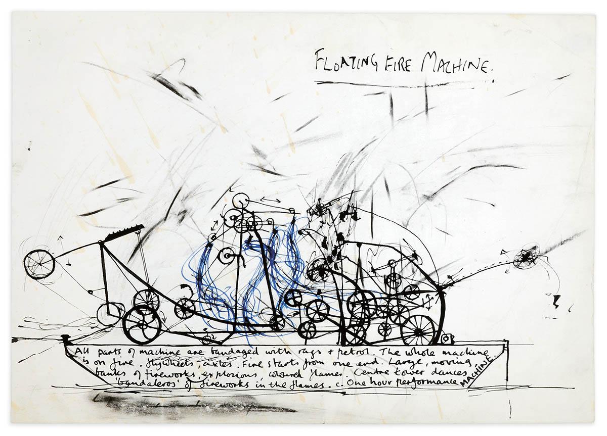 Stephen Cripps, Floating Fire Machine, 1975