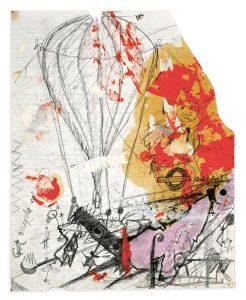 Stephen Cripps, ohne Titel, (Machine Carrying Hot Air Balloon), 1970 – 1976