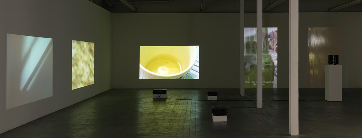 Itziar Okariz, Video Notes, 2017. Installationsansicht Kunsthaus Baselland, 2017. Foto: Serge Hasenböhler