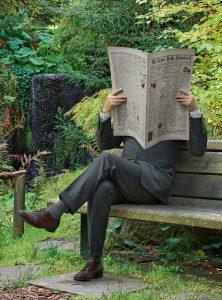 Rodney Graham, Newspaper Man, 2016