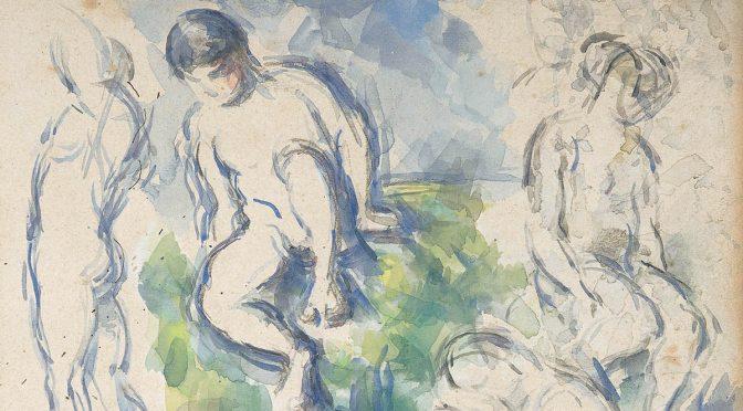 Paul Cézanne, Badende, um 1890