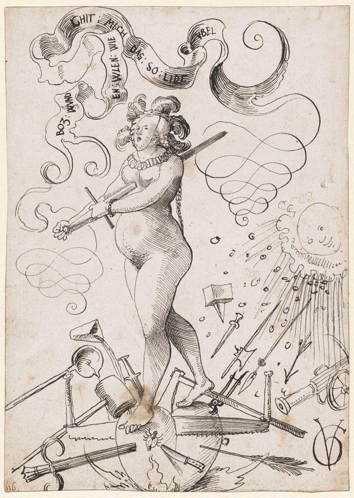 Urs Graf; Die Liebesqualen; um 1516