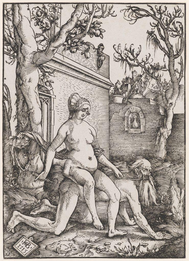 Hans Baldung gen. Grien; Aristoteles und Phyllis; 1513