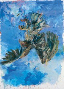 Georg Baselitz, Adler, 1972, Fingermalerei (Detail), Bayerische Staatsgemäldesammlungen, Pinakothekt der Moderne, Wittelsbacher Ausgleichsfonds, München © Georg Baselitz, 2018, Foto: © Bayer&Mitko - ARTOTHEK