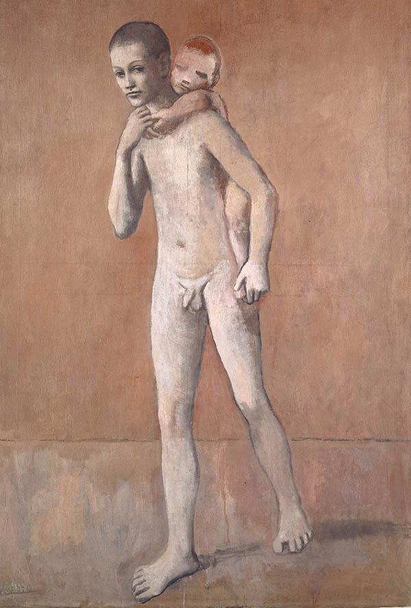 Pablo Picasso, Les deux frères, 1906 (Gósol), Kunstmuseum Basel- Depositum der Einwohnergemeinde der Stadt Basel- 1967