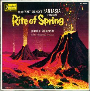 Cover der Langspielplatte From Walt Disney's Fantasia.-Stravinsky – The Rite of Spring, Leopold Stokowski, Philadelphia Orchestra, Anaheim: Disneyland [1958] (WDL 4101A), (Bibliothek PSS)