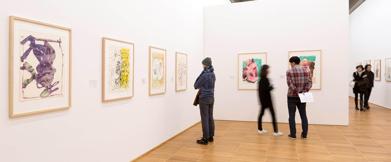 Ausstellungsansicht Georg Baselitz, Kunstmuseum Basel, Februar 2018, Foto: Julian Salinas