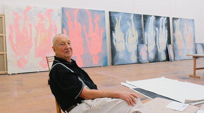 Georg Baselitz in seinem Atelier am Ammersee, 2017
