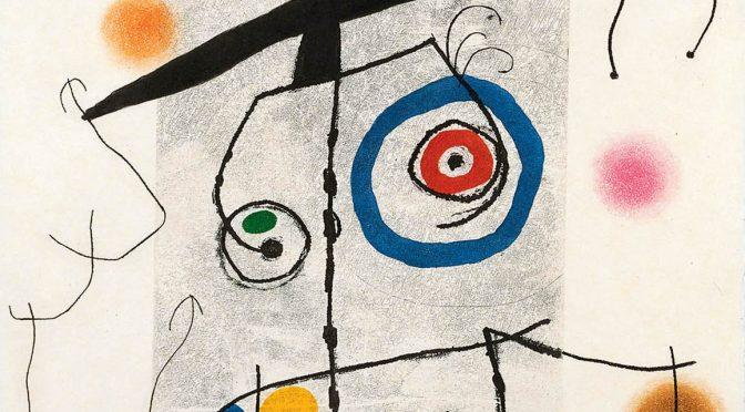 Joan Miró, Mann mit Pendel, 1969, Detail