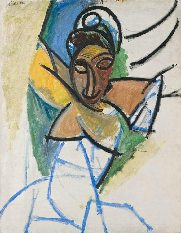 """Pablo Picasso, Femme (Époque des """"Demoiselles d'Avignon""""), 1907"""