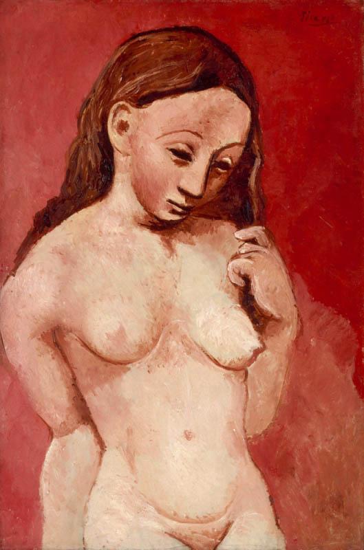 Pablo Picasso, Nu sur fond rouge, 1906