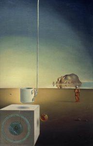 Salvador Dalí, Riesige fliegende Mokkatasse mit unerklärlicher Fortsetzung von fünf Metern Länge, 1944/45