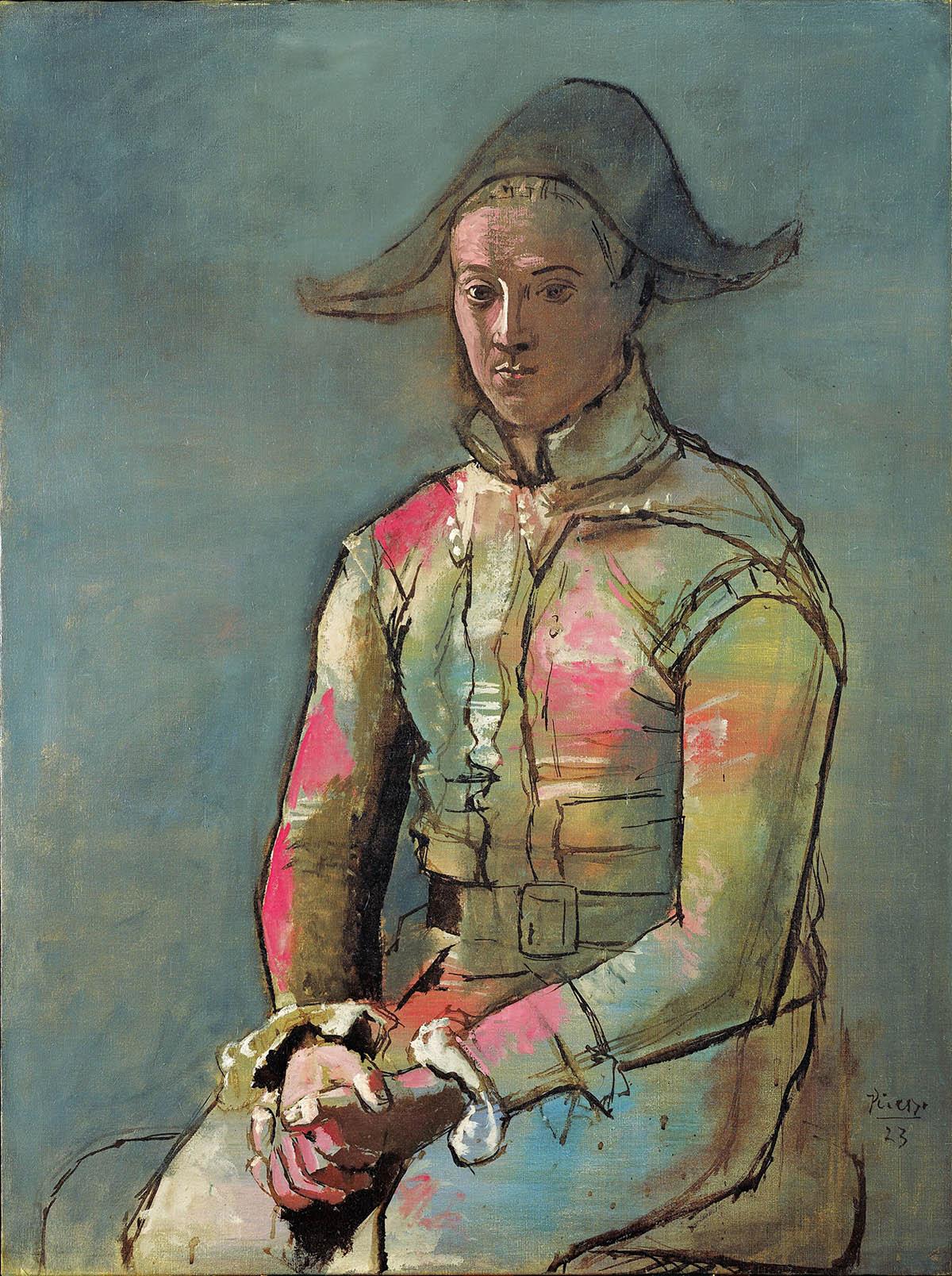 Pablo Picasso, Arlequin assis, 1923