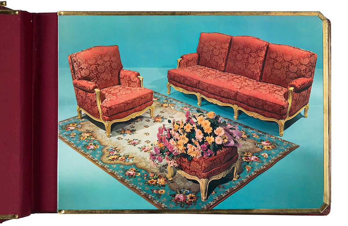 Unbekannt, Werbeaufnahme für Sofamöbel, um 1950