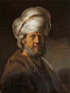 Rembrandt Harmensz. van Rijn, Brustbild eines Mannes in orientalischer Kleidung, 1635, Rijksmuseum, Amsterdam