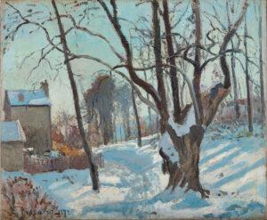 Camille Pissarro, Schneelandschaft in Louveciennes (Louveciennes, Chemin des Creux), 1872